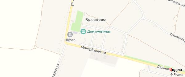 Молодежная улица на карте села Булановки с номерами домов
