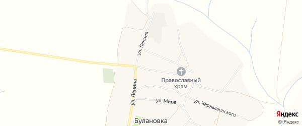 Карта села Булановки в Белгородской области с улицами и номерами домов