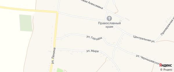 Улица Городок на карте села Булановки с номерами домов