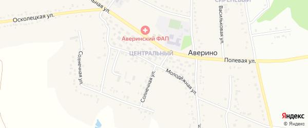 Молодежная улица на карте села Аверино с номерами домов