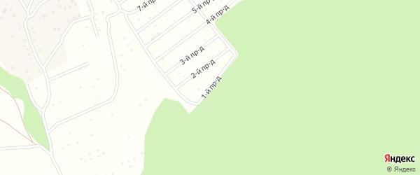 1-й проезд на карте садового некоммерческого товарищества Надежды с номерами домов