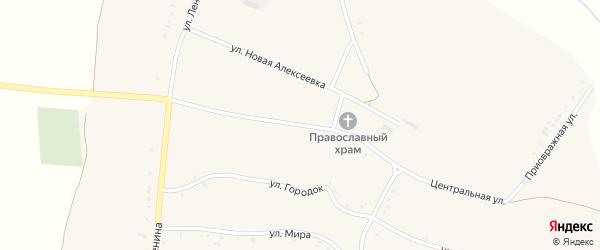 Центральная улица на карте села Булановки с номерами домов