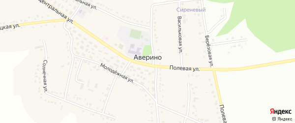 Березовая улица на карте села Аверино с номерами домов