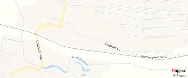Садовая улица на карте села Кандаурово с номерами домов