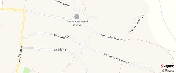 Центральный переулок на карте села Булановки с номерами домов