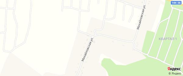 Михайловская улица на карте Михайловского хутора с номерами домов