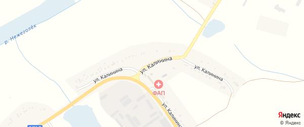 Улица Калинина на карте села Бершаково с номерами домов