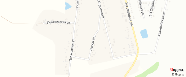 Лесная улица на карте села Аверино с номерами домов