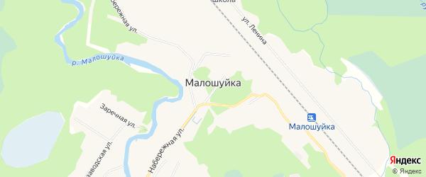 Карта поселка Малошуйки в Архангельской области с улицами и номерами домов
