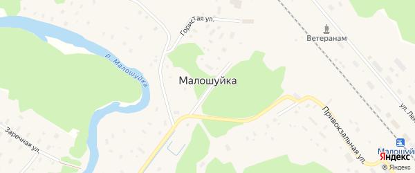 Заречная улица на карте поселка Малошуйки с номерами домов
