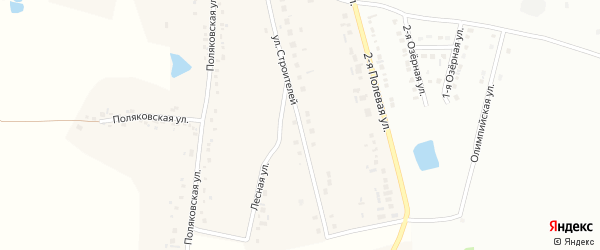 Улица Строителей на карте села Аверино с номерами домов