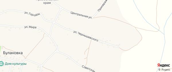 Улица Чернышевского на карте села Булановки с номерами домов