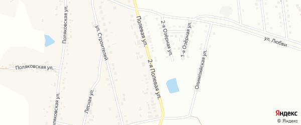 Полевая 2-я улица на карте Губкина с номерами домов