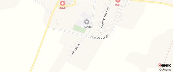 Солнечная улица на карте села Коньшино с номерами домов