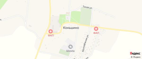 Восточная улица на карте села Коньшино с номерами домов