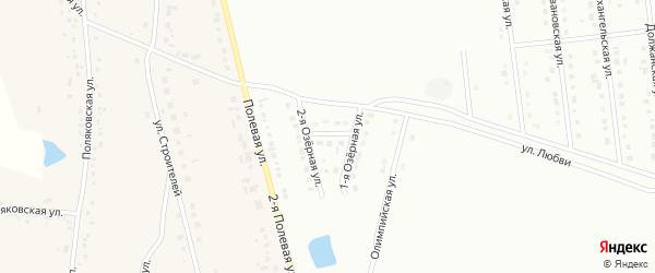 Тихий переулок на карте Губкина с номерами домов