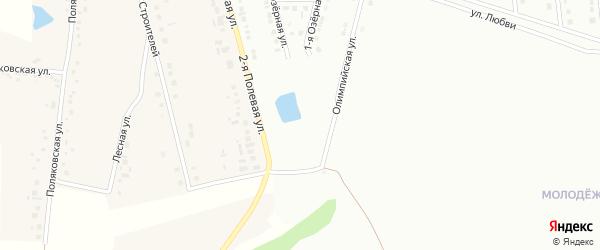 Озерный переулок на карте Губкина с номерами домов