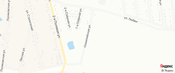 Олимпийская улица на карте Губкина с номерами домов