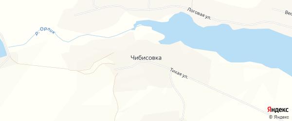 Карта села Чибисовки в Белгородской области с улицами и номерами домов