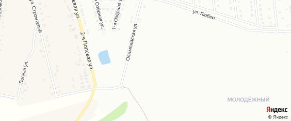 Улица Молодогвардейце на карте Губкина с номерами домов