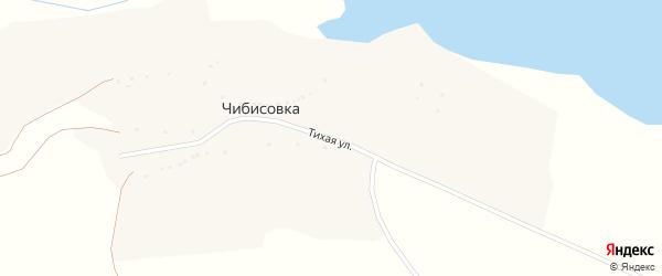 Тихая улица на карте села Чибисовки с номерами домов