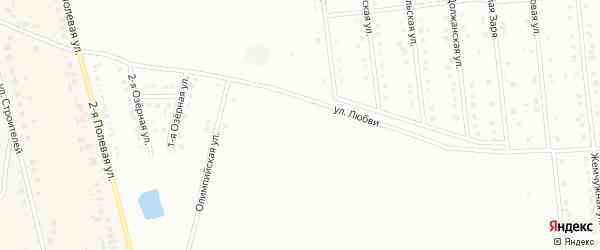Модный 2-й переулок на карте Губкина с номерами домов