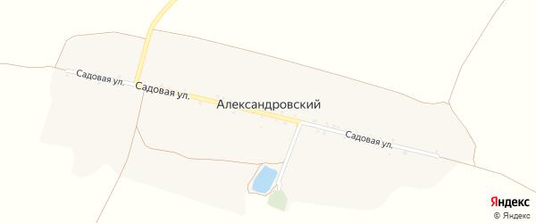 Садовая улица на карте Александровского хутора с номерами домов