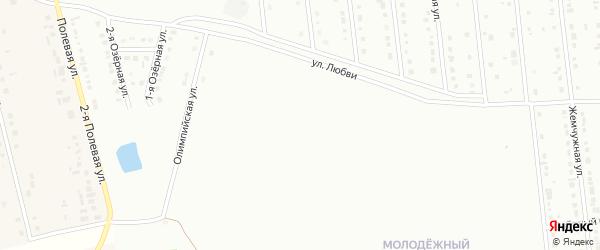 Модный 1-й переулок на карте Губкина с номерами домов