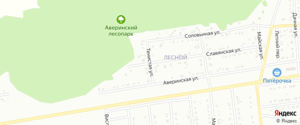 Тенистая улица на карте Губкина с номерами домов