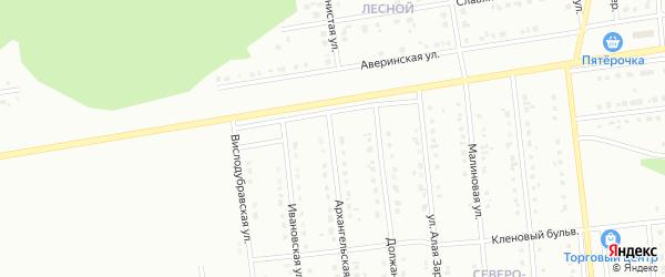 Северо-Западный микрорайон на карте Губкина с номерами домов
