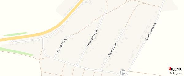 Народная улица на карте села Сергиевки с номерами домов