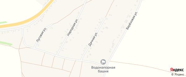 Дачная улица на карте села Сергиевки с номерами домов