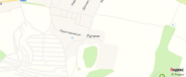 Карта хутора Пугачи в Белгородской области с улицами и номерами домов