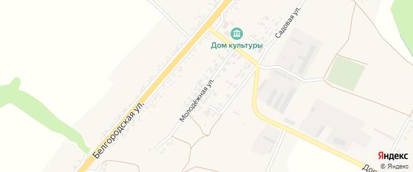 Молодежная улица на карте села Сергиевки с номерами домов