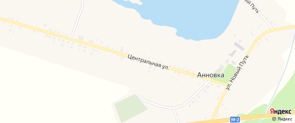 Центральная улица на карте села Анновки с номерами домов