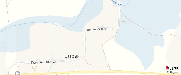 Приграничная улица на карте Старого хутора с номерами домов