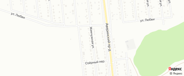 Жемчужная улица на карте Губкина с номерами домов