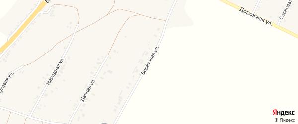 Березовая улица на карте села Сергиевки с номерами домов