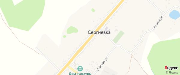Белгородская улица на карте села Сергиевки с номерами домов