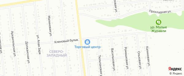 Кленовый бульвар на карте Губкина с номерами домов