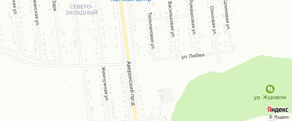 Улица Любви на карте Губкина с номерами домов