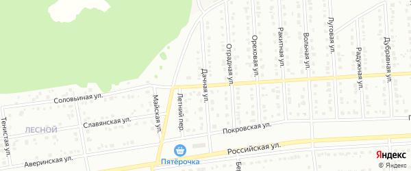 Дачная улица на карте хутора Залесья с номерами домов