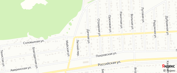 Дачная улица на карте Юбилейного микрорайона с номерами домов