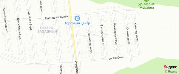 Тюльпановая улица на карте Губкина с номерами домов