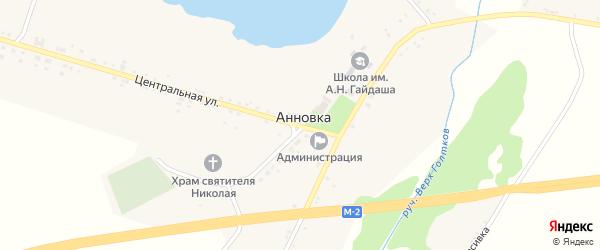 Улица Новый путь на карте села Анновки с номерами домов