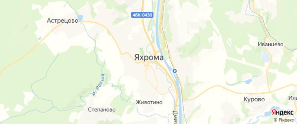 Карта Яхромы с районами, улицами и номерами домов