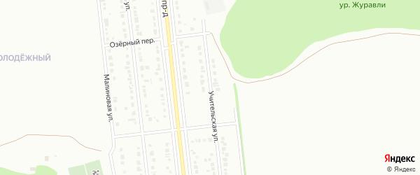 Учительская улица на карте Губкина с номерами домов