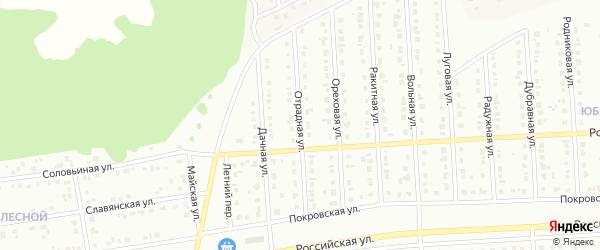 Отрадная улица на карте Юбилейного микрорайона с номерами домов