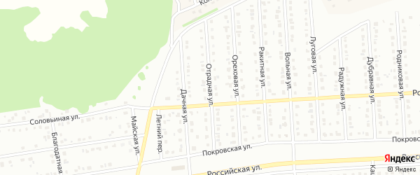 Отрадная улица на карте Губкина с номерами домов