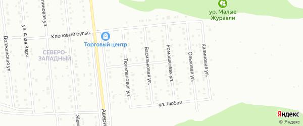 Виноградная улица на карте Губкина с номерами домов